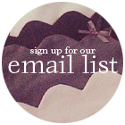 sign up for the she and reverie email list for special updates, discounts and more