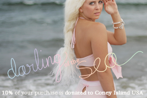 shop darling of the sea, our mermaid-inspired loungewear capsule collection, with 10% of proceeds donated to coney island usa