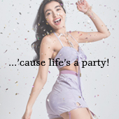 cause life's a party photoshoot