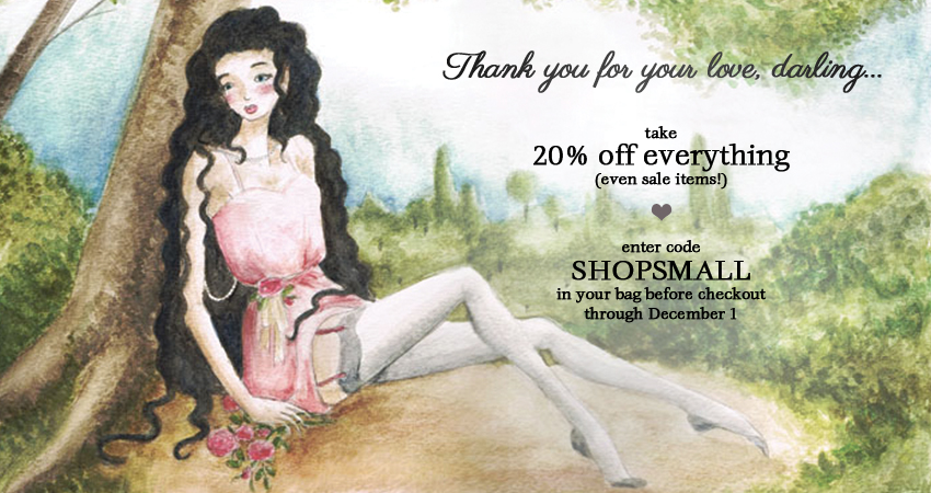 Take 20% off everything (even sale!) with code SHOPSMALL!