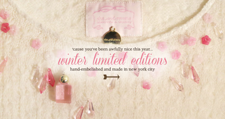 shop new hand-embellished winter limited editions!
